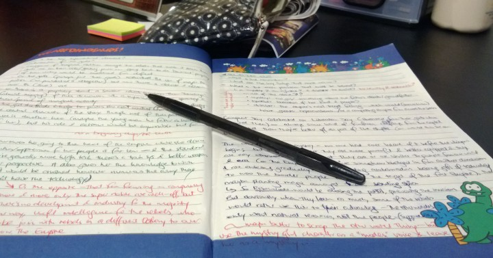 Notebook of novel ideas and planning
