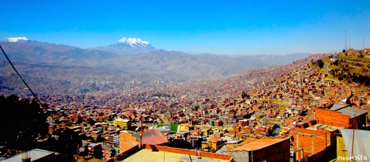 View of La Paz from the adjoining city of El Alto, home to many of the country's poorest.