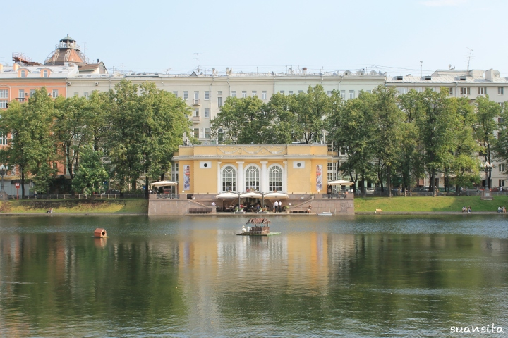 Patriarch's Pond, where the opening scene from Bulgakov's The Master and Margarita takes place.