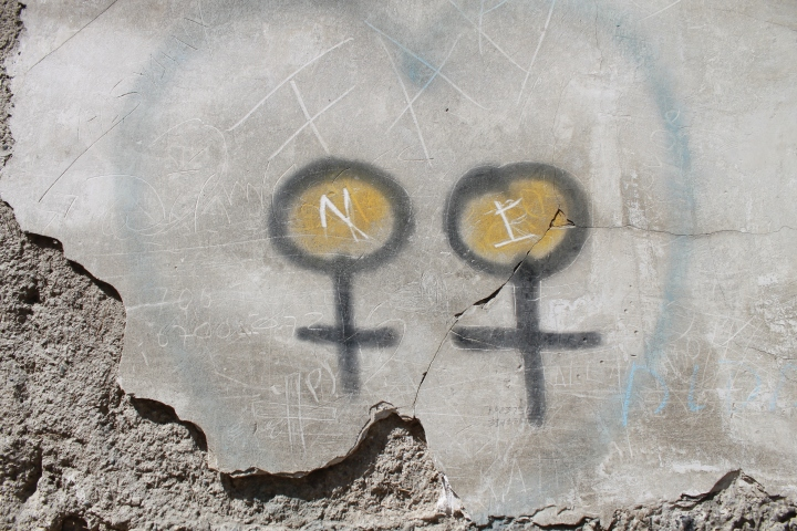 Graffiti on the exterior walls of San Pedro Penitentiary. It made me think of girls, and the girls we work with ...