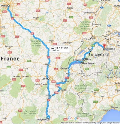 2016 RailEurope route